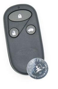 Para Accord Civic Honda Jazz CR-V llavero control remoto de 3 botones restaurado