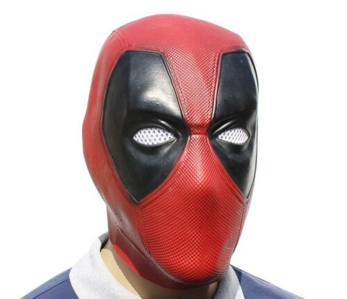 Deadpool Masque Cosplay Xcoser Costume Halloween Adulte Latex Masque capuche fait main