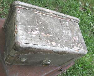 Antique Primitive Copper Wood Box Wall Hung Toilet