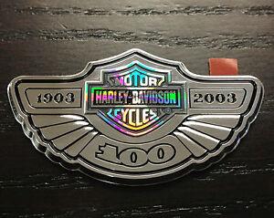 Authentic harley davidson 100th anniversary medallion for 100th window vinyl
