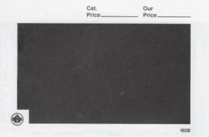 Unitrade Stamp Dealer Display Cards - Form 102 black- 1000 package