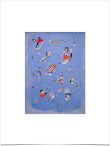 WASSILY-KANDINSKY-BLEU-DE-CIEL-LIMITED-EDITION-BIG-BORDERS-ART-PRINT-18X24-blue