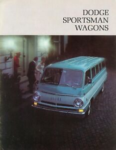 Details about 1968 Dodge Sportsman Wagons Custom Sportsman Camper  Conversion Sales Brochure