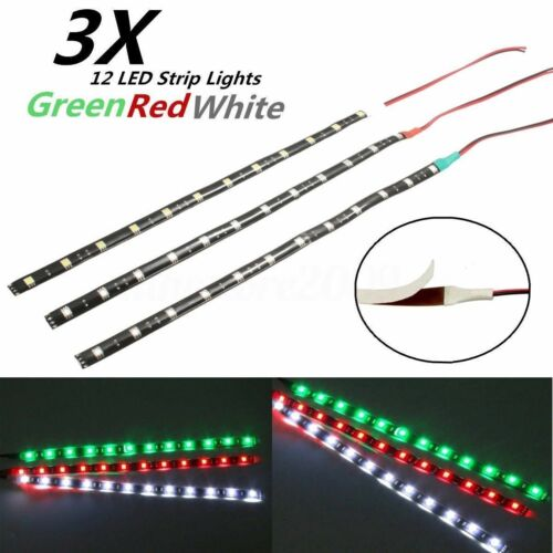 """LED 12/"""" Submersible Navigation Light Strip Waterproof Marine Boat Red Green Whit"""