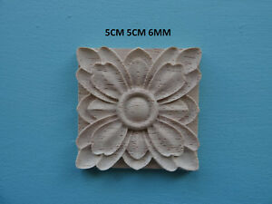 wooden appliques for furniture. Image Is Loading Decorative-wooden-appliques-flower-square-furniture -mouldings-onlay- Wooden Appliques For Furniture