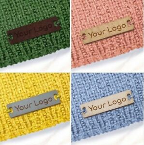 Custom Faux Leather Labels Tags 28x8mm Knitting Sewing Crochet