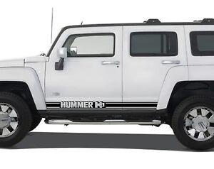 HUMMER H Side Stripes Rocker Vinyl Decals Stickers Pair - Custom vinyl decals cars