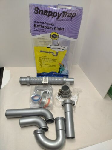 "BATHROOM SINK DRAIN KIT Universal 1.5/"" Tailpiece Plumbing Part PVC Flexible Hose"