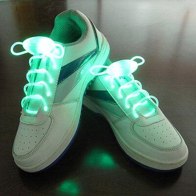 1 Paar Schnürsenkel leuchtende LED colorlight Schuh Halskette Armband neu - grün