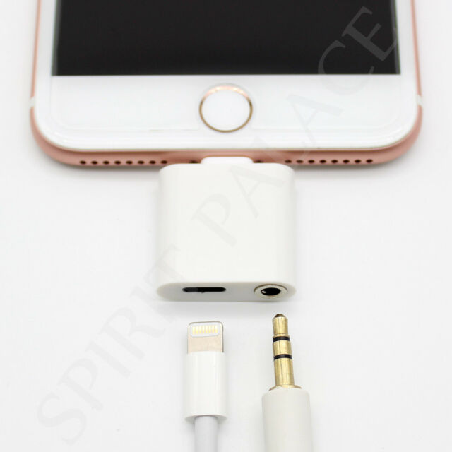 Charge+Audio Adapter Lightning to 3.5mm Aux Headphone Jack for iPhone 6 iOS10.2