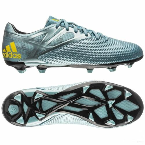 Adidas Messi 15.3 FG Firm Ground Youth Soccer Shoes Ice//jaune vif//Core Bla