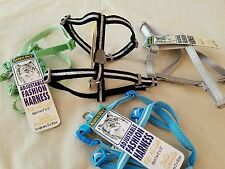 "Lot of 4 Extra Small Animal Harnesses 8"" - 16"" New Teacup Dogs, Cats, Rabbits+"