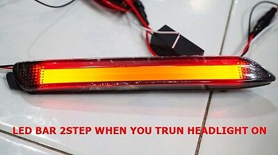 PAIR TOYOTA FORTUNER 2012-2014 TAIL LED BAR REAR 2 STEP BUMPER REFLECTORS LIGHT