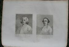 "1822 Hogarth Folio Engravings - ""Henry Fox, Lord Holland"" and ""James Caulfield"""