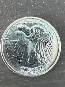 1//10 oz walking liberty silver round