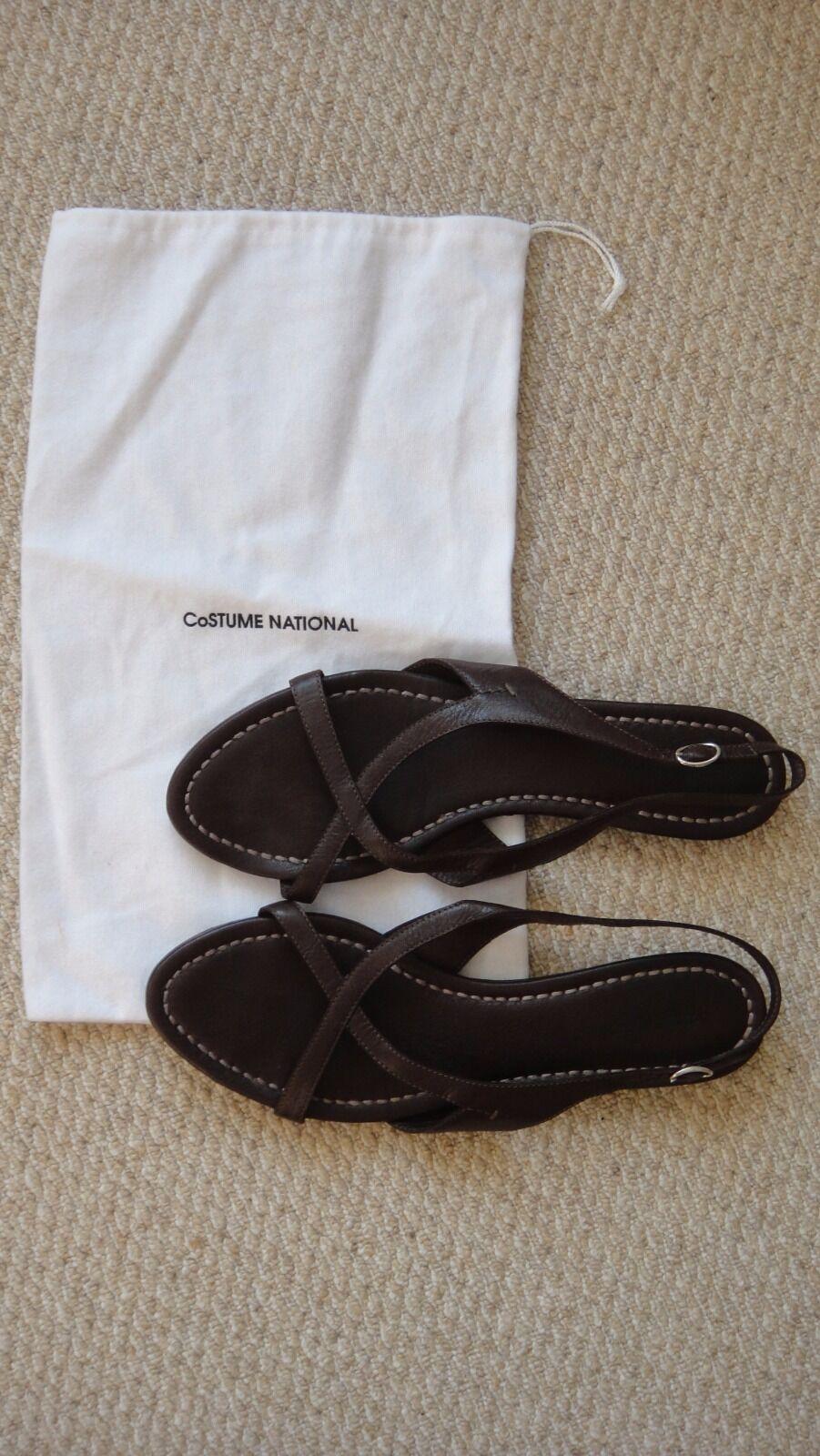 f312152154f5e5 les sandales de cuir cuir cuir brun costume national grec filet porteur d  taille 40 uk7 | Prix Raisonnable 1bb14d