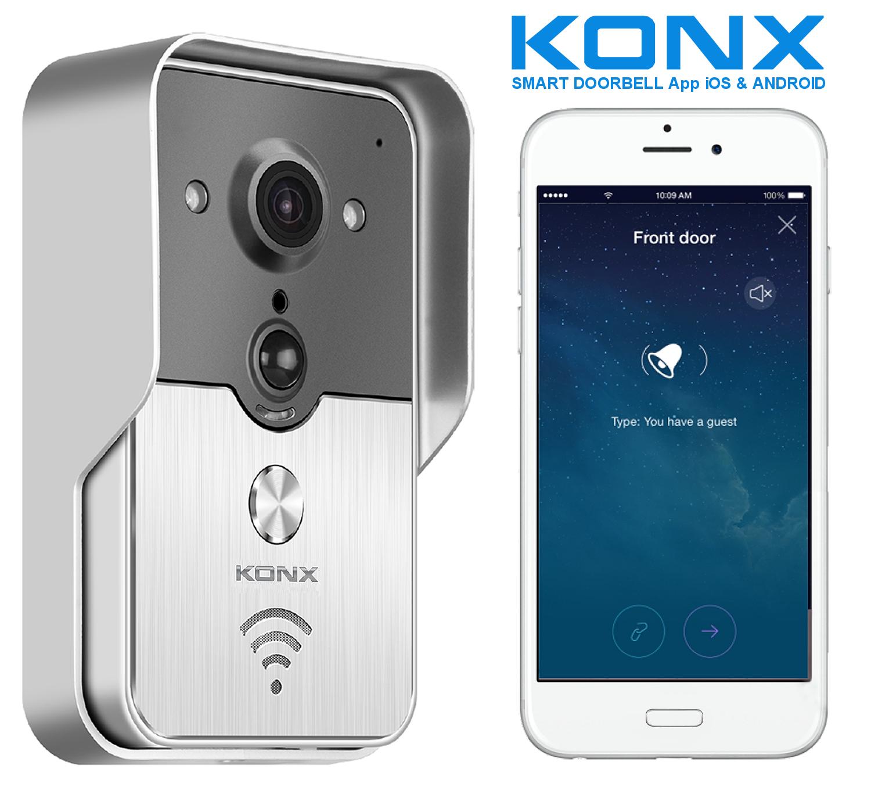 KONX KW01 Gen2, Gegensprechanlage Video verbunden 720p Wi-Fi, full duplex