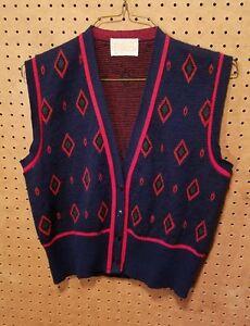 Pendleton-Wool-Vest-Size-M-Medium-Blue-Vintage