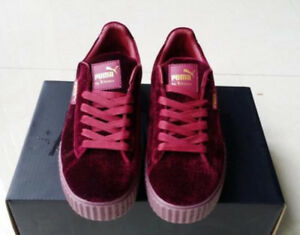 new product 63a68 d4bf7 Details about New Velvet Puma Fenty PUMA Creeper Rihanna x Pack Trainer  Sneaker Shoes