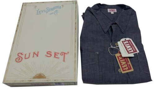 LEVI'S VINTAGE CLOTHING camicia uomo chambray MADE IN USA