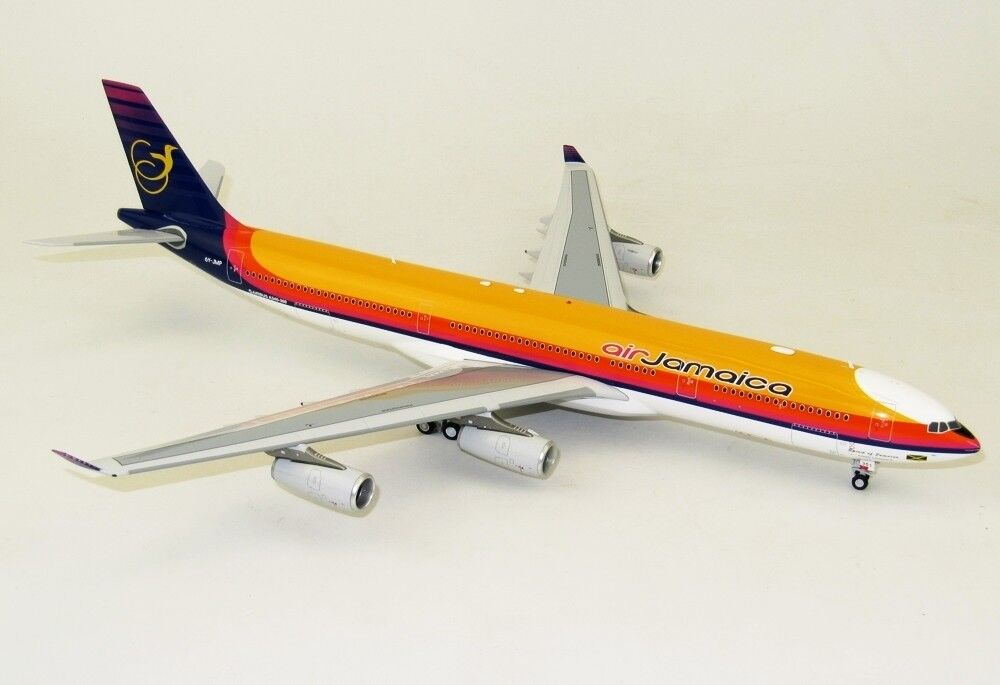 INFLIGHT200 IF3430517 1 200 AIR JAMAICA AIRBUS A340-300 6Y-JMP WITH STAND