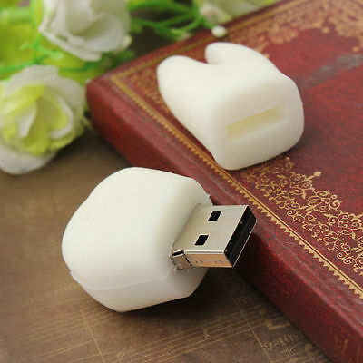 8-32GB White Tooth Model USB 2.0 Flash Memory Stick Pen Drive U Disk Storage