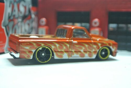 Hot Wheels Loose 1:64 /'67 Chevy C-10 Pickup Truck Burnt Orange w// Flames