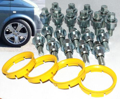Range Rover Rueda de la aleación Kit De Montaje Para Vw Transporter T5 20 pernos de extremos y 4 Anillos