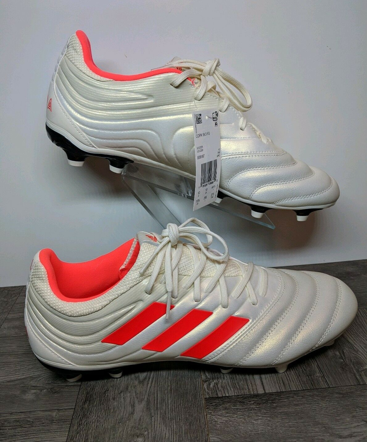d0310675c3a New Adidas Copa 19.3 19.3 19.3 FG Soccer Cleats Off-White Solar Red BB9187  Men s Sz 7.5 579284