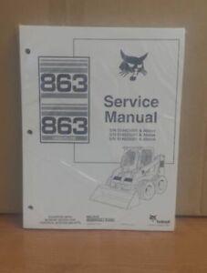 Details about Bobcat 863 Skid Steer Loader Complete Shop Service Manual  Repair 6900648
