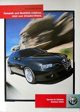 Alfa Romeo 156 Sportwagon Facelift 2004 Large Poster 84 x 59cm Mint Condition