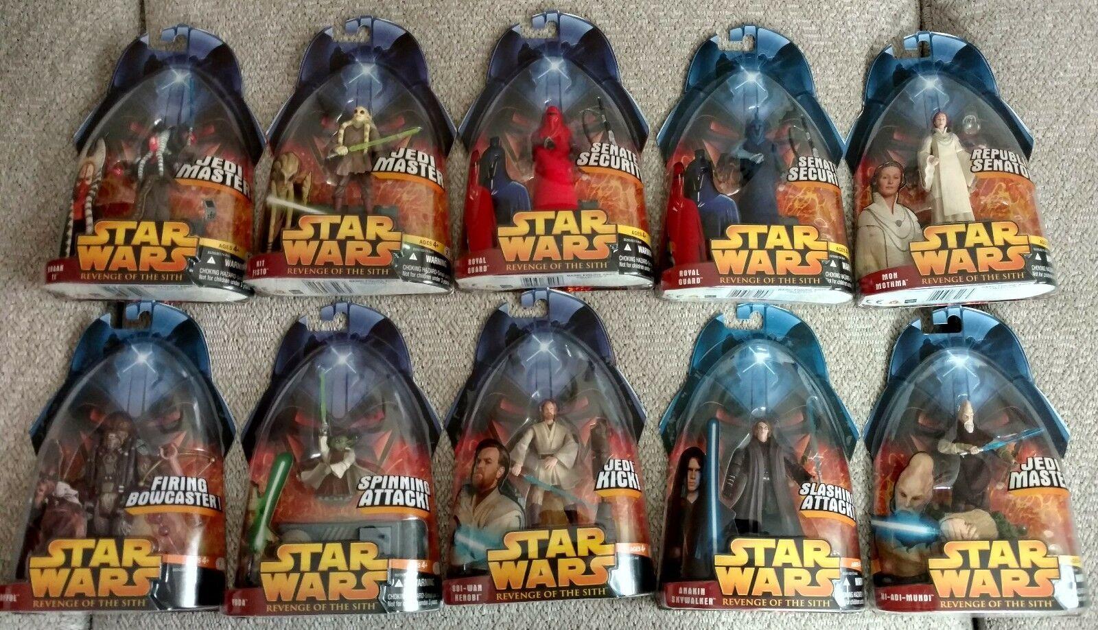 Lote de 10 Estrella Wars La Venganza De Los Sith 2005 figuras de acción (Lote C)