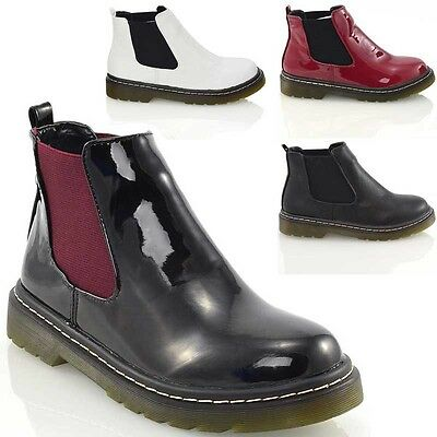 New Womens Chelsea Ladies Pull On Elasticated Casual Biker Ankle Boots Size 3-8
