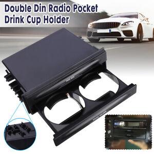 Auto-Ablagefach-Aufbewahrung-Getraenkehalter-Becherhalter-2-DIN-Universal-175mm