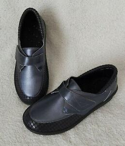 BRUMAN chaussures médicales confort pieds sensibles femme 42 cuir gris scratch