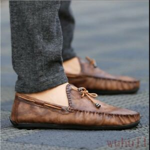 Mens-Tassels-Loafers-Driving-Shoes-Slip-Ons-Moccasin-K-Gommino-Business-Boat-New