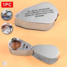 Juwelier Lupe 40 Fach Schmuck Vergrösserungslupe mit LED Licht für 40 x 25mm@#