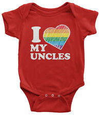 I Love My Uncles Infant Bodysuit Niece Nephew Rainbow Gay Pride