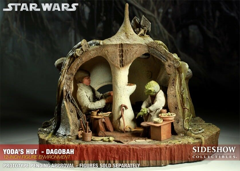 "Sideshow STAR WARS  YODA'S  HUT - DAGOBAH 12"" ENVIRONMENT 100026 new sealed"