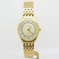 Ladies Rotary Gold Plated & Mother Of Pearl Wrist Watch