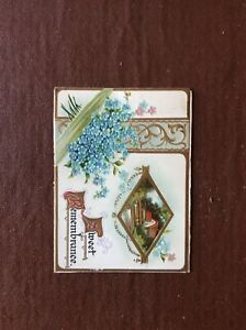 B8b-Ephemera-1900s-Christmas-Card-Sweet-Remembrance-Glue-Mark-On-Back