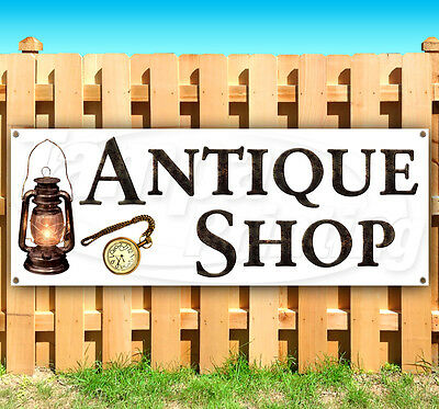 Many Sizes Available Flag, Advertising New Antique Furniture Now Open 13 oz Heavy Duty Vinyl Banner Sign with Metal Grommets Store