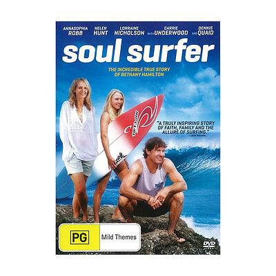 Soul Surfer DVD Brand New Aus Region 4 - Helen Hunt
