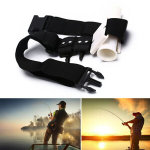 Waist-Gimbal-Fishing-Belt-Fish-Rod-Holder-Adjustable-Stand-Up-Fighting-Bo-CP9