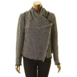 ANNE-KLEIN-NEW-Women-039-s-Tweed-Cowl-neck-Wear-To-Work-Blazer-Jacket-Top-TEDO