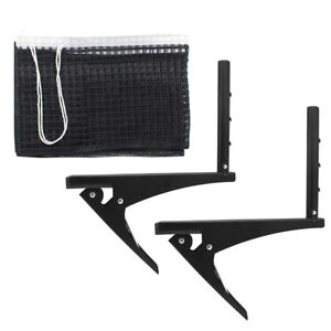 Table Tennis Net with Post Clamp Stand Set Ping Pong Replacement Mesh  Standard f4a8636477f66