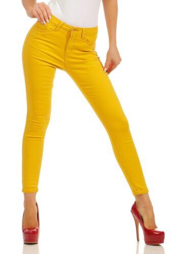 Damen Jeans Röhre Skinny Treggings Slim Fit Damenjeans Stretch Denim High-Waist