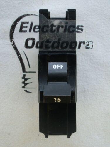FEDERAL ELECTRIC 15 AMP MCB CIRCUIT BREAKER STABLOK STAB LOK