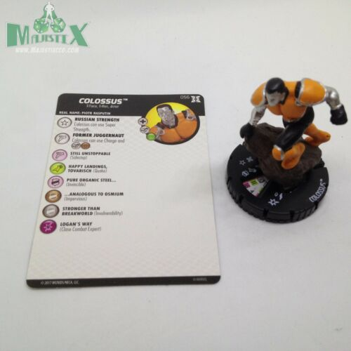Heroclix Deadpool & XForce set Colossus #056 Super Rare figure wcard!