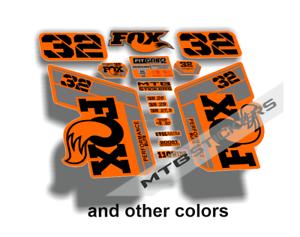 New custom FOX 32 fork stickers decals mtb bike